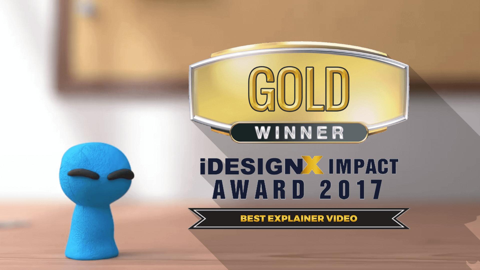 I won a Gold iDesignX Impact Award